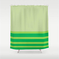 "Lime Sublime Shower Curtain 71"" X 74"",Bathroom Decor,Pattern,Preppy,Style,Stripes,Home Decor,Nautical,Lime Green,Emerald Green,Mint Green"