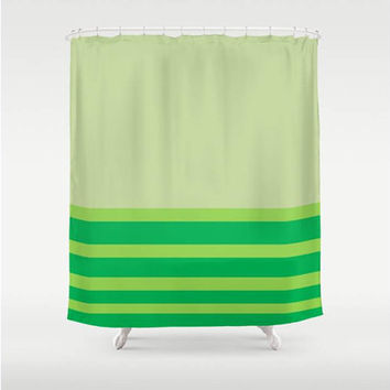 Shop lime green shower curtain on wanelo for Emerald green bathroom accessories