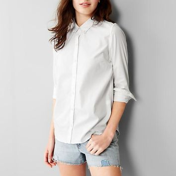 Gap Women Fitted Boyfriend Oxford Shirt