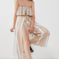 Faithfull The Brand Island Stripe Wide-Leg Pant | Urban Outfitters