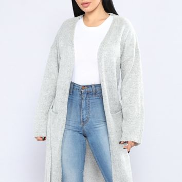 All I Need Is Pockets Cardigan - Heather Grey