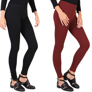 Dinamit Jeans Women's Fleece Lined Leggings- 2 Pack