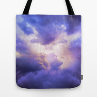 The Skies Are Painted III (Cloud Galaxy) Tote Bag by Soaring Anchor Designs