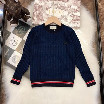 Gucci good quality boys and girls cardigan sweater coat Children's sweater,baby clothing