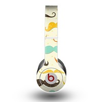 The Vintage Colorful Mustaches Skin for the Beats by Dre Original Solo-Solo HD Headphones