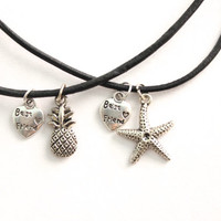 Spongebob & Patrick Best Friend Chokers Set - Pineapple and Starfish