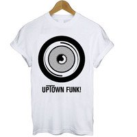 Uptown Funk T Shirt Tee S M L XL Bruno Mars Mark Ronson Retro Logo Cool Hipster Tumblr Music RnB Soul Cool Vintage X Factor Groove Pintrest