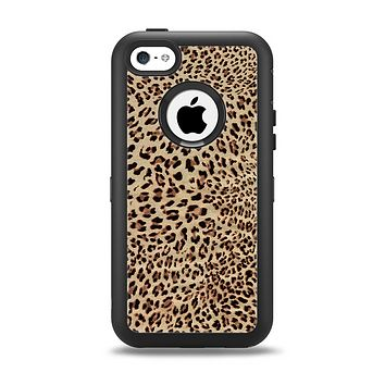 The Brown Vector Leopard Print Apple iPhone 5c Otterbox Defender Case Skin Set