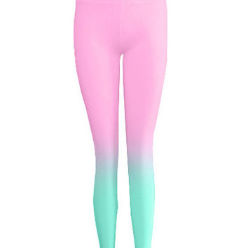 Ombre Dyed Leggings