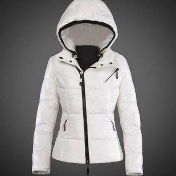 ONETOW Moncler Joinville Asymmetric Puffer Jacket white