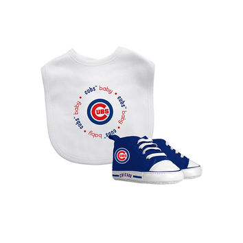Chicago Cubs MLB Infant Bib and Shoe Gift Set