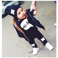 Sun Moon Kids Girls Clothing Set 2016 New Kids Clothes Print Toddler Boys Clothes Children Clothing Girl Outfits T shirt + Pants-in Clothing Sets from Mother & Kids on Aliexpress.com | Alibaba Group