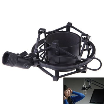 Universal Metal Mic Microphone Shock Mount Clip Holder Studio Sound Record