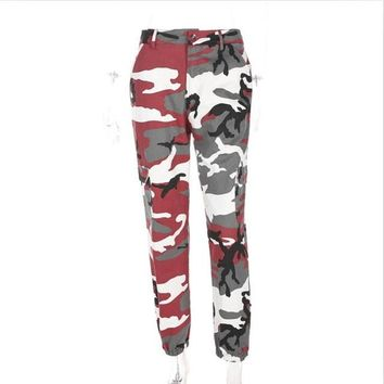 2017 Women Camouflage Pants Casual Camo Sweatpant Fashion Harem Autumn Winter Pants High Waist Loose Ladies Trousers Streetwear