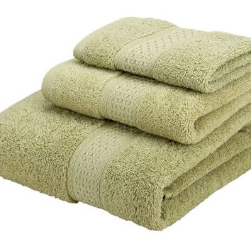 3pcs Face Hand Bath Towel Home Use Towel Cotton Towel Set For Adults Washcloths High Absorbent 2017ing