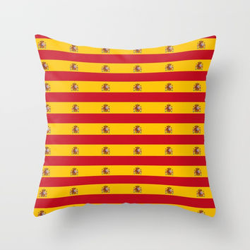 Flag of spain 2-spain,flag,flag of spain,espana, spanish,plus ultra,espanol,Castellano,Madrid,prado Throw Pillow by oldking