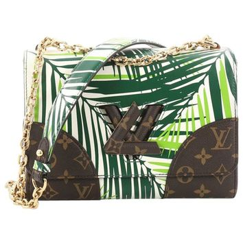 Louis Vuitton Twist Handbag Limited Edition Palm Print Leather