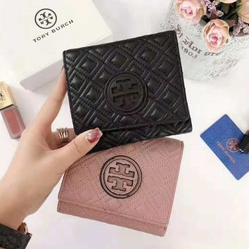 """Tory Burch"" High Quality Fashion Cowhide Purse Wallet"