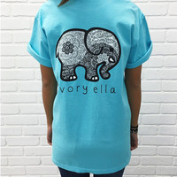 New Summer Style ivory ella Women T Shirts Cotton Cartoon Elephant Print Casual Women Tshirt Tops