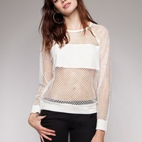 Net white top - Shop the latest Fashion Trends