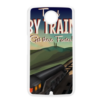 Travel by train White Hard Plastic Case for Google Nexus 6 by Nick Greenaway