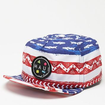 Maui & Sons Merica Flip Up Snapback Hat - Mens Backpack - Red/White/Blue - One