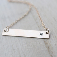 Gold Bar Necklace - Personalized