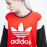 Adidas Archive Trefoil Sweatshirt in Red - Urban Outfitters