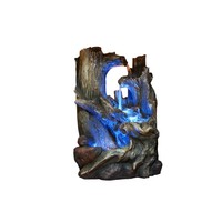 Alpine Tree Trunks Fountain with LED Light Decorative