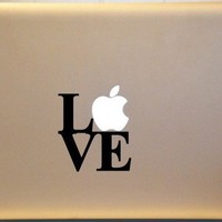 LOVE Macbook Decal Vinyl Sticker for Laptop CHOOSE Your Color L2