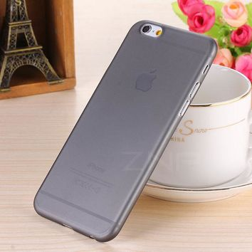 ZNP Matte Transparent 0.3mm Back Full Case For iPhone 6 7 8 Plus X 5 5S SE Case Protective Cover for iPhone 7 8 6 6s plus case
