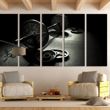 Gym Wall Art / Crossfit Wall Art / Bodybuilding Canvas Print / Powerlifting Sports Motivational Wall Art / Fitness Gym Canvas Print Decor