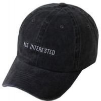 Not Interested Embroidered Weekend Baseball Hat