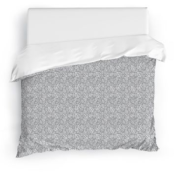 FOLI GREY Duvet Cover By Tiffany Wong