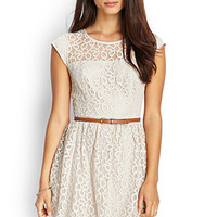 LOVE 21 Sleeveless Lace Skater Dress