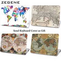 Retro Sailing Map Pattern Hard Case For Macbook Laptop Cover For Apple Macbook Air 11 13 Car Cases For Macbook Pro 13 15 Retina