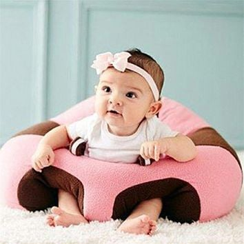 Baby Support Plush Soft Baby Infant Learning Chair For Posture