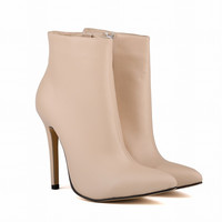 Matte Pointed Ultra-High Short Boots