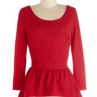 Hostess Toast Top in Red