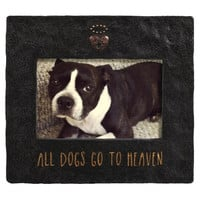 Pet Memorial Photo Frame - All Dogs Go To Heaven for 4x6 Photo