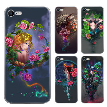 Comic Twelve Constellations Frosted Case For Iphone 7 Case Colorful Painting Back Cover Soft Phone Cases For Iphone7 6 6S Plus