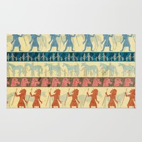 Egyptian Unicorn Pattern Rug by That's So Unicorny