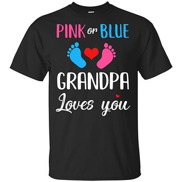 Pink Or Blue Grandpa Loves You Funny Gender Reveal Party Gift