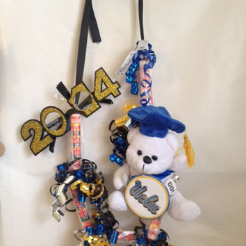 GIANT smarties-Graduation Candy Lei with UCLA button
