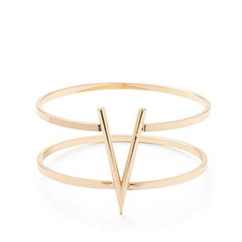 V-Embellished Cutout Bangle