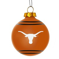 Forever Collectibles Texas Longhorns Christmas Ball Ornament