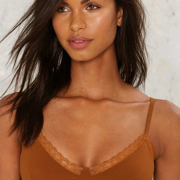 Trim Shot Lace Bra - Brown