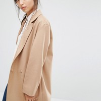 French Connection Platform Felt Coat at asos.com