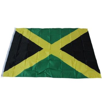 ONETOW 2016 Jamaican Country flag Polyester Jamaica National Banner Large flags decoration