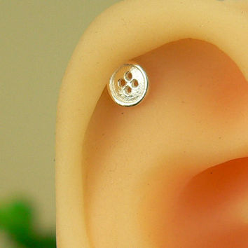 cartilage earring, cartilage stud earring, cute cartilage earring, helix earring,sterling silver earring